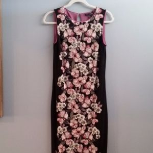 White House Black Market Floral Dress Size Small
